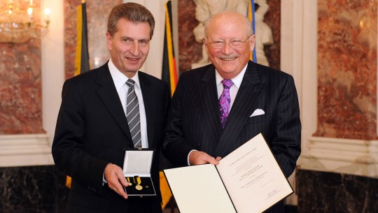Medal of Merit of the State of Baden-Württemberg for Prof. Dr. h.c. Viktor Dulger